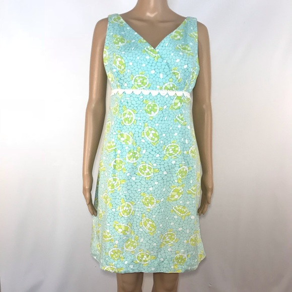 d2f720d370ee Lilly Pulitzer Dresses | Surplice Empire Waist Dress Turtles | Poshmark